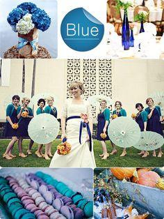 Mykonos Blue Inspired Fall 2013 Wedding Color