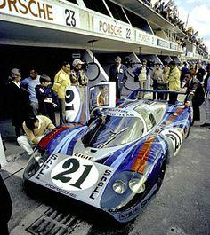 1971 Porsche 917 L d'Elford / Larrousse. Abandon au 33° tour.