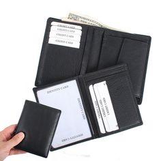 Herrengeldbörse mit extra Ausweishülle Schwarz Geldbörse Herren Geldbeutel