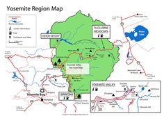 Yosemite National Park Map Mariposa County Adventures