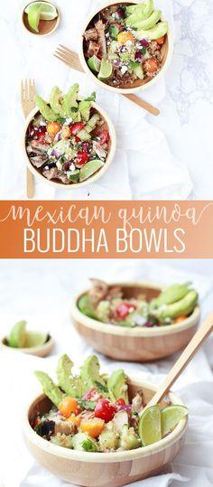 Mexican Quinoa Buddha Bowl | quinoa recipes | healthy quinoa bowl recipe | healthy buddha bowls | Mexican recipe ideas || Oh So Delicioso #buddhabow #healthylunch #quinoarecipe