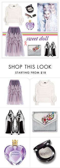 """""""SWEET DOLL!!!"""" by kskafida ❤ liked on Polyvore featuring Dries Van Noten, Burberry, Yves Saint Laurent, Shourouk and Vera Wang"""