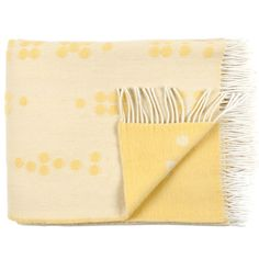 Buy Wool Throw Dot Yellow from Clippings: International delivery on Sendit. Scandinavian Home, Ideal Home, Wool Blanket, Baby Gifts, Branding Design, Just For You, Yellow, Fabric, Sunshine