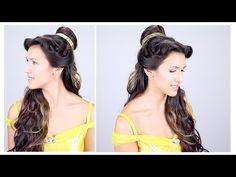 Belle Disney Princess Hair Tutorial is part of Belles Hairstyle Tutorial A Cutegirlshairstyles Disney - I hope you love this Disney Princess half updo! Disney Hairstyles, Disney Princess Hairstyles, Trendy Hairstyles, Girl Hairstyles, Wedding Hairstyles, Belle Cosplay, Disney Hair Tutorial, Princess Belle Hair, Princess Belle Costume