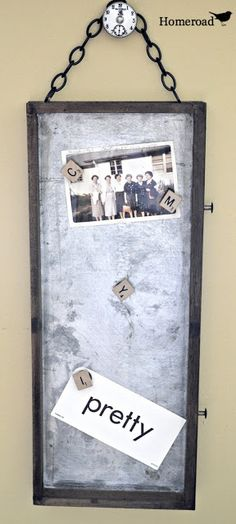 Save the drawers! Repurposed from an old tool box, this galvanized tray turned fabulous memo board! Tool Box Diy, Old Drawers, Galvanized Steel, Galvanized Tray, Old Tools, Trash To Treasure, Repurposed Items, Interior Design Living Room, Decoration