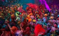 Holi color festival in India- I might throw a Holi party in the Spring!