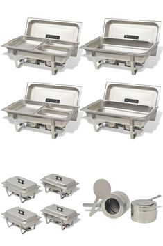 TheStainless Steel Warming Dishes are great for keeping food warm or hot for prolonged periods. Made of stainless steel with a solid construction and are easy to clean. Keep Food Warm, Buffet, Tray, Restaurant, Stainless Steel, Dishes, Drink, Beverage, Diner Restaurant