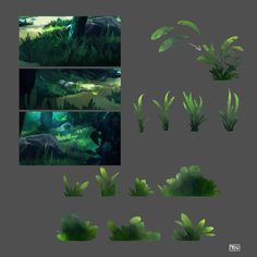 How to paint green lush forest. Digital painting of beautiful evening light. Color study of natural Digital Painting Tutorials, Digital Art Tutorial, Art Tutorials, Digital Paintings, Drawing Tutorials, Fantasy Landscape, Landscape Art, Forest Drawing, Forest Art