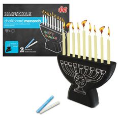 Chalkboard Menorah. Can't wait to break this out this year!