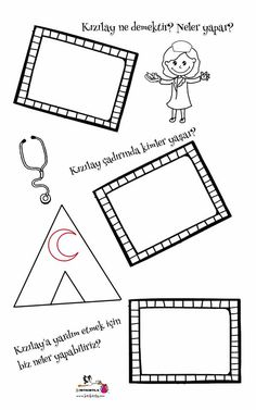 MERAK EDİYORUM – KIZILAY Preschool Printables, Preschool Activities, Montessori, Children, Kids, Origami, Diy And Crafts, Kindergarten, How To Plan