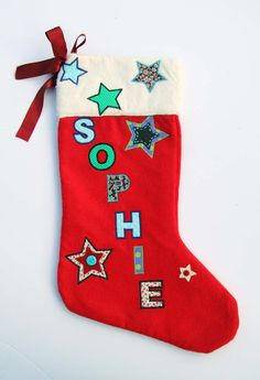 Luxury Personalised Handmade Christmas Stocking Gift - Name: Sophie Roses Luxury, Vintage Fabrics, Handmade Christmas, Christmas Stockings, Trending Outfits, Unique Jewelry, Handmade Gifts, Holiday Decor, How To Make