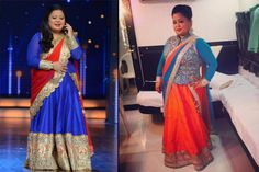 Stylish Outfits Every Plus Size Bride Can Steal From Comedy Queen Bharti Singh Weekly Outfits, Curvy Outfits, Stylish Outfits, Plus Size Outfits, Plus Size Girls, Plus Size Women, Plus Size Lehenga, Dresser, Dress For Petite Women