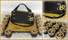 Micheal Kors purse cake and cupcakes. Le sucre au four