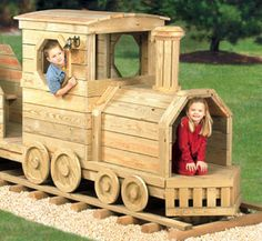 1000 images about playground on pinterest play for Wooden locomotive plans