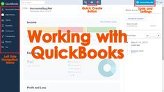 An introduction about QuickBooks Online (QBO) User Interface!  We can work with QuickBooks online with through its interface provided in the Internet Browser. When we login to the QuickBooks Online will see the Working Area, Left Side Navigation Menu, Quick Create Button, Tools and Settings, using which we record the Books of Accounts.
