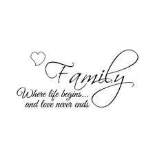 Výsledek obrázku pro family where life begins and love never ends