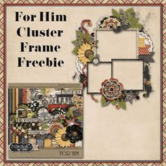 Just So Scrappy: For Him Cluster Frame Freebie