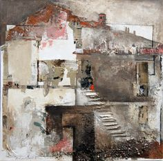 Titolo: Demolizioni in corso, Ester Maria Negretti Grey Abstract Art, Grey Art, Amazing Paintings, Amazing Art, Interesting Drawings, Wax Art, Collage Art Mixed Media, Watercolor Paintings, Pastel Paintings