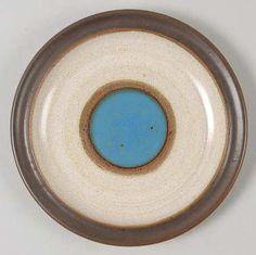 Denby's Potter's Wheel Blue (1970s) - 4salad plates