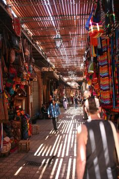 Exploring the markets on our high flyers weekend to Marrakech.