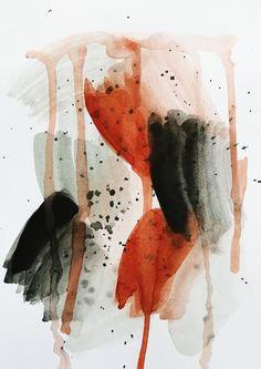 Orange. Art by Sigrid Ida-Auroora Instagram @art.sigrid #vesivärit #abstrakti #abstraktimaalaus #abstraktitaide #kuvataide #taide #watercolor #watercolorpainting #painting #watercolors #abstract #abstractart #abstractwatercolor Orange Art, Watercolors, Abstract, Artwork, Painting, Instagram, Summary, Water Colors, Work Of Art