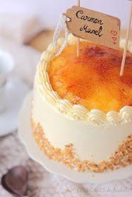 Cookcakes de Ainhoa: LAYER CAKE DE VAINILLA, TRUFA, SARA Y YEMA TOSTADA Almond Cakes, Vanilla Cake, Tiramisu, Cake Recipes, Muffins, Cooking Recipes, Sweets, Cheese, Cookies