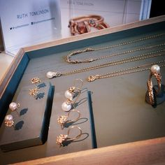 Pearls, gold and champagne diamonds... Amplifying the luxe factor for #LFW http://ruthtomlinson.com/