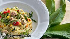 Tavaszi, tonhalas spagetti medvehagymával