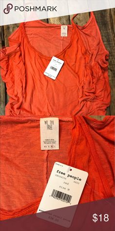 Free People Tank Free People Sand Dollar Tank. New with tags size medium. The color is a fantastic orangey-red. Free People Tops Tank Tops