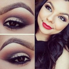Eye Makeup ..but not the extreme bronzer that makes her look like a marionette..