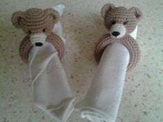 amigurumi tête d'ourson en rond de serviette : Accessoires de maison par stella1957