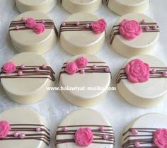 Pink Party Favors, Princess Party Favors, Wedding Party Favors, Birthday Party Favors, Birthday Crowns, Baby Shower Desserts, Baby Shower Cookies, Shower Baby, Arabic Sweets