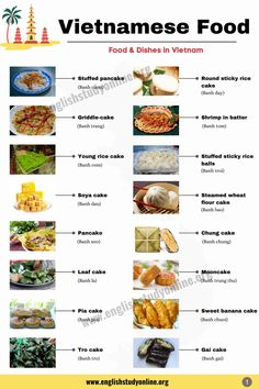 45 Best Vietnamese Food & Dishes You Should Know - English Study Online Vietnamese Food, Vietnamese Recipes, English Study, Learn English, Crab Rice, Pork Spring Rolls, Rice Noodle Soups, Banh Xeo, Pork Roll