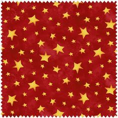 This Christmas fabric is the perfect yellow and red holiday sewing material. This basic fabric has lots of yellow stars on a red background. It is