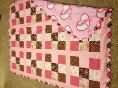 My breast cancer quilt I made & will donate to Heidi. She is going to raffle it off to raise money for her 3 day walk for breast cancer.