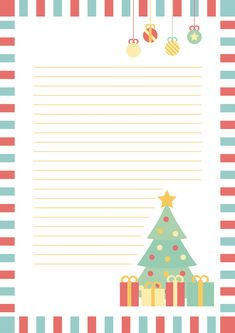 Christmas Printables, Christmas Crafts, Christmas Decorations, Christmas Party Invitation Template, Xmas Quotes, New Years With Kids, Free Printable Stationery, Christmas Envelopes, Christmas Border