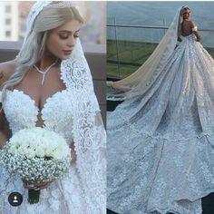 luxury Crystal Wedding Dresses 2019 Lace Applique Sweetheart Gorgeous Beads Chapel Train Plus Size Bridal Ball Gowns robe de mariage Crystal Wedding Dresses, Fairy Wedding Dress, African Wedding Dress, Western Wedding Dresses, Black Wedding Dresses, Princess Wedding Dresses, Bridal Dresses, Wedding Gowns, Ball Dresses