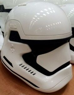 A stormtrooper helmet from the new Star Wars film