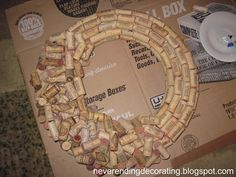 Neverending Decorating: How To Make A Wine Cork Wreath