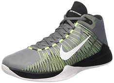 huge discount e0e86 582f3 Nike Mens Zoom Ascention Mens Basketball Shoes Cool Grey White Volt Black -  Every day something new
