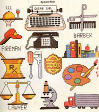 Free+Mini+Cross+Stitch+Patterns | ... PROFESSIONS Pharmacist Fireman Artist & More Mini Cross Stitch Pattern