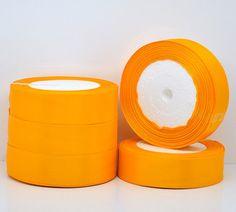 1 inch wide TANGERINE TANGO Orange SATIN Ribbon for by SmartParts, $5.99
