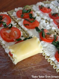 Easy Caprese Lasagna Roll Ups recipe on TastesBetterFromScratch.com