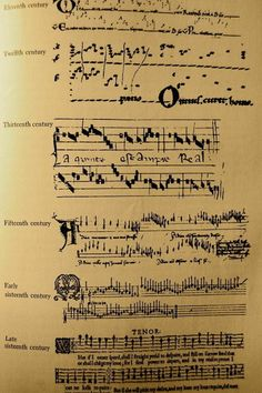 Interesting- the evolution of music notation.