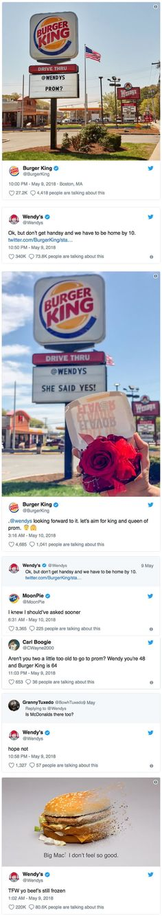 Burger King Asked Wendy's To Prom And The Reply Did Not Disappoint