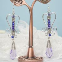 Wire Jewelry Making Instructions-How to Make Simple Wire Wrapped Bead Earrings with Seed Beads