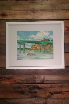 Celebrating the Oconee River Greenway and everything Milledgeville with our Oconee River at Milledgeville Print. Original art by Milledgeville's own, Nancy D. Mitchell. Print only. Frame not included. Signed & numbered.