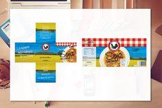 Aplicación de marca en etiqueta y diseño de flayer publicitario