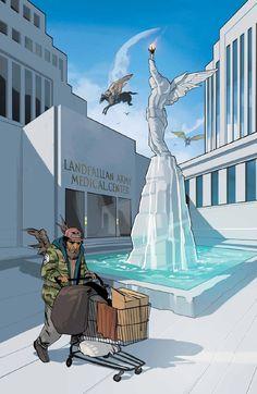 Saga 13. Art cover by Fiona Staples.