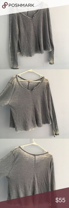 Distressed V Neck In good condition. A little bit of pilling but you can't see when you wear it. Ecote Tops